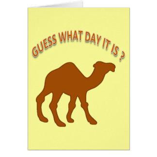 Supor que dia é cartão de aniversário do humor