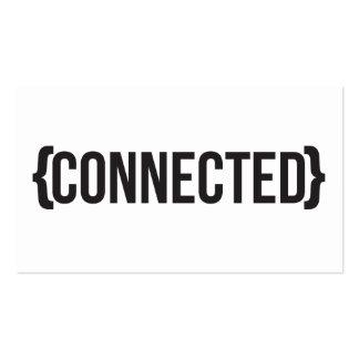 - Suportado - preto e branco conectado Cartões De Visitas