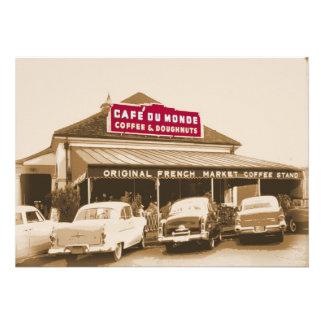 Suporte 1950 do café do bairro francês convite