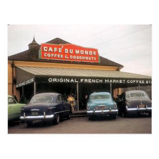 Suporte do café, cartão de Nova Orleães