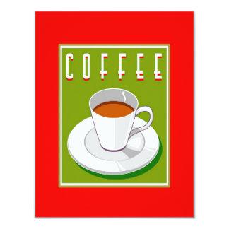 Suporte do café convite 10.79 x 13.97cm