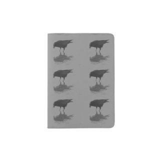 Suporte do passaporte da repetição do corvo de capa para passaporte