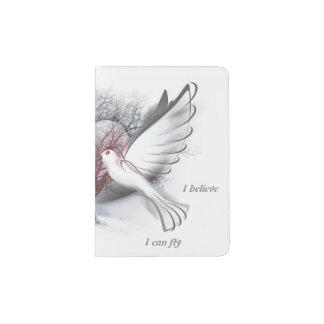 Suporte do passaporte das pombas do amor capa para passaporte