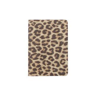 Suporte do passaporte do impressão do leopardo capa para passaporte
