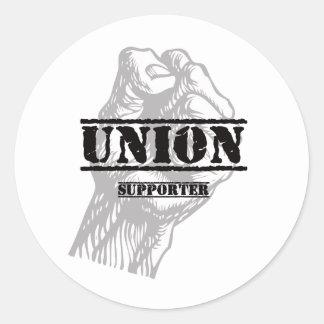 Suporte do vândalo da união adesivo em formato redondo