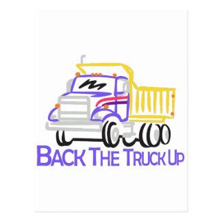 Suporte o caminhão acima cartão postal
