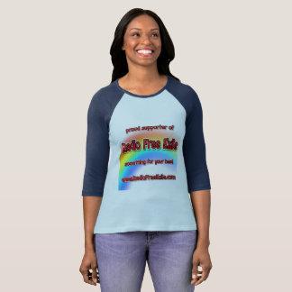 suporte orgulhoso do exilado livre de rádio camiseta