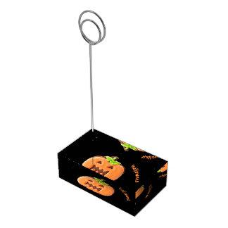 Suporte Para Cartão De Mesa Abóbora da laranja do Dia das Bruxas