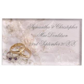 Suporte Para Cartão De Mesa Alianças de casamento bonito românticas