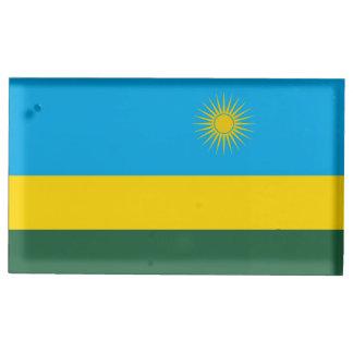 Suporte Para Cartão De Mesa Bandeira de Rwanda