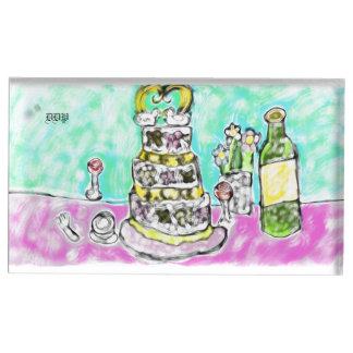 Suporte Para Cartão De Mesa bolo de casamento