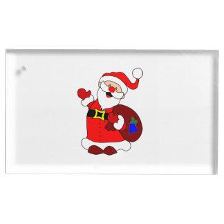 Suporte Para Cartão De Mesa Clipart do saco de Papai Noel e de presente