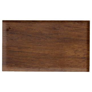 Suporte Para Cartao De Mesa Construção áspera da textura de madeira