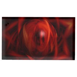Suporte Para Cartão De Mesa Esfera do fogo vermelho