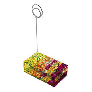 Suporte Para Cartao De Mesa Floral colorido de Snapdragons