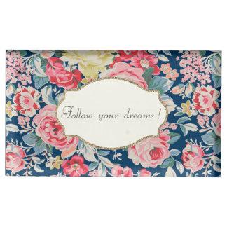 Suporte Para Cartão De Mesa Flores românticas adoráveis - mensagem inspirador