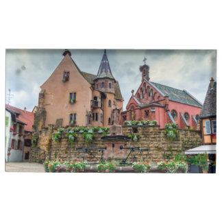 Suporte Para Cartão De Mesa Fonte de Santo-Leon em Eguisheim, Alsácia, France