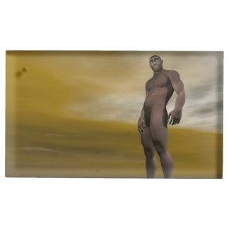Suporte Para Cartao De Mesa Homo erectus masculino - 3D rendem