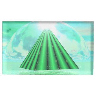 Suporte Para Cartão De Mesa Pirâmide Mystical - 3D rendem