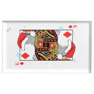 Suporte Para Cartão De Mesa Rei do Feliz Natal dos diamantes - adicione suas