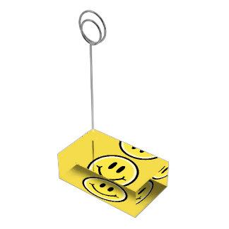 Suporte Para Cartao De Mesa Sorriso amarelo