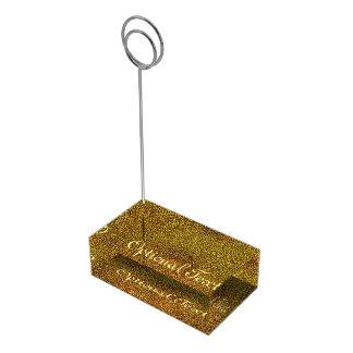 Suporte Para Cartão De Mesa Teste padrão espiral do ouro