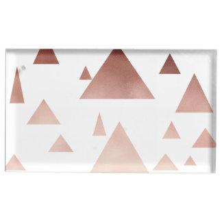 Suporte Para Cartão De Mesa teste padrão geométrico dos triângulos do ouro