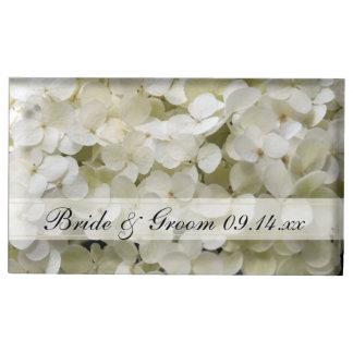 Suporte Para Cartão De Mesa Titular do cartão branco da mesa do casamento do