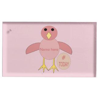 Suporte Para Cartão De Mesa Titular do cartão cor-de-rosa feito sob encomenda