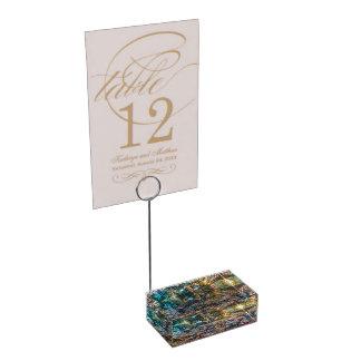 Suporte Para Cartão De Mesa Titular do cartão da mesa do minério do arco-íris