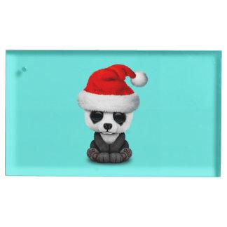Suporte Para Cartão De Mesa Urso de panda do bebê que veste um chapéu do papai