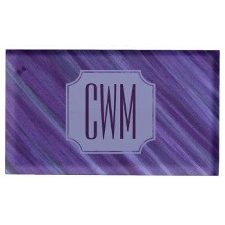 Suporte Para Cartão De Mesa Violeta roxa do Lilac do monograma indiferente do