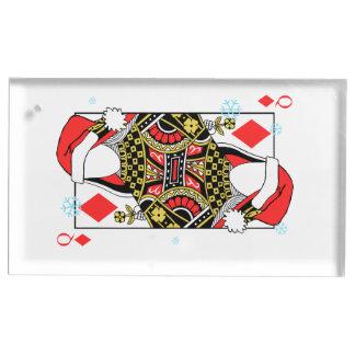 Suporte Para Cartões De Mesa A rainha do Feliz Natal de Diamante-Adiciona suas