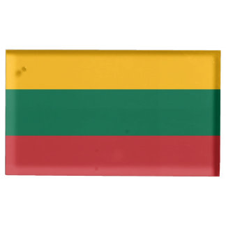 Suporte Para Cartoes De Mesa Bandeira de Lithuania