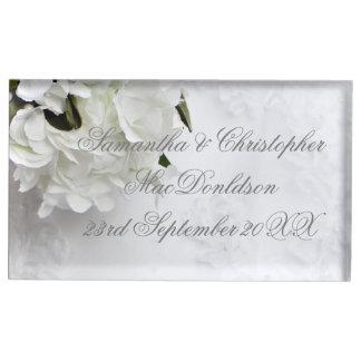 Suporte Para Cartões De Mesa Casamento do buquê das noivas da flor branca