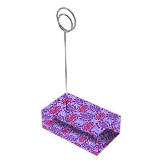Suporte Para Cartoes De Mesa Embaçamento roxo