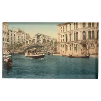 Suporte Para Cartoes De Mesa Ponte de Rialto e canal grande, Veneza, Italia