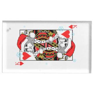Suporte Para Cartões De Mesa Rei do Feliz Natal dos corações