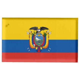 Suporte Para Cartoes De Mesa Símbolo da bandeira de país de Equador por muito