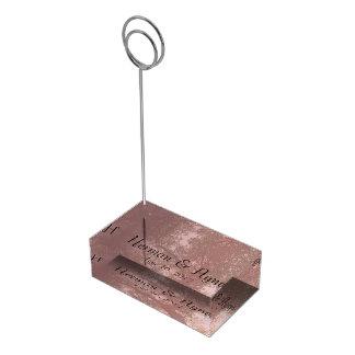 Suporte Para Cartões De Mesa Titular do cartão cor-de-rosa da mesa da árvore da