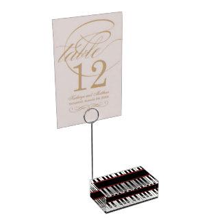 Suporte Para Cartões De Mesa Titular do cartão legal da mesa do piano do