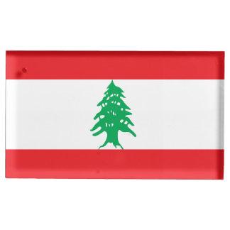Suporte Para Cartões De Mesas Bandeira de Líbano