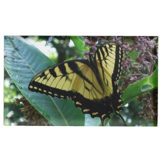 Suporte Para Cartoes De Mesas Borboleta de Swallowtail mim no Milkweed em