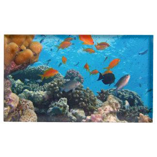 Suporte Para Cartoes De Mesas Cena subaquática