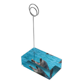 Suporte Para Cartoes De Mesas Conversa do golfinho