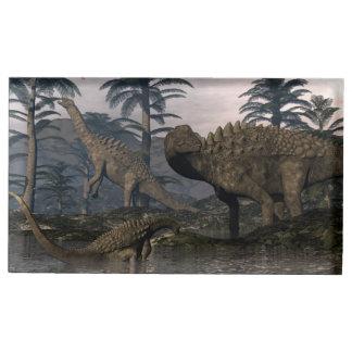 Suporte Para Cartoes De Mesas Dinossauros do Ampelosaurus