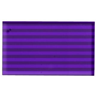 Suporte Para Cartoes De Mesas Listras finas - violetas e violeta escura
