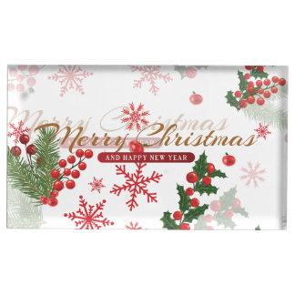 Suporte Para Cartões De Mesas Natal elegante