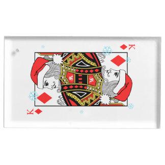 Suporte Para Cartões De Mesas Rei do Feliz Natal dos diamantes