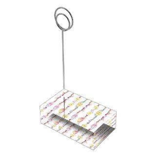 Suporte Para Cartões De Mesas Suporte dos números da mesa da aguarela da miçanga